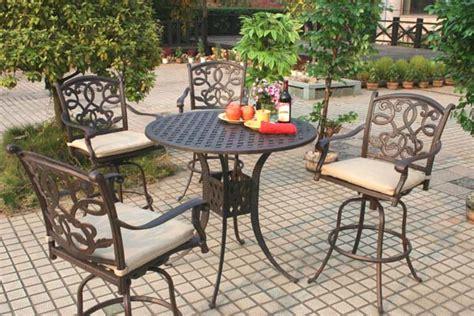 patio furniture bar stool swivel cast aluminum santa