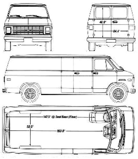 chevrolet van  blueprints  outlines