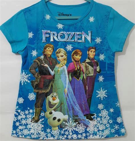 Baju Anak Karakter Elsa Frozen Tersedia Berbagai Ukuran baju anak karakter frozen lengkap biru 1t 6t grosir eceran baju anak murah berkualitas
