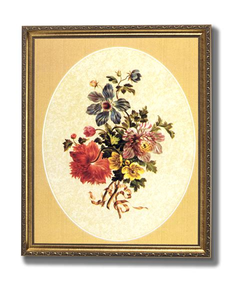 victorian flowers floral wall picture gold framed art