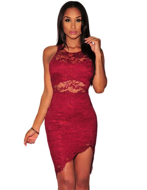 vestidos rojos de encaje cortos vestidos rojos de encaje cortos ms1475