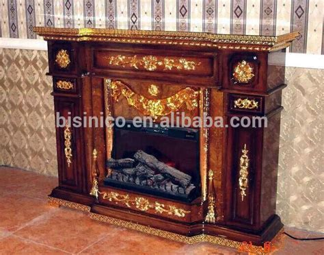vintage carved wooden mantelpiece fireplace