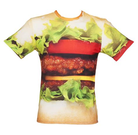 Burger Tshirt unisex tasty burger all print t shirt from mr gugu