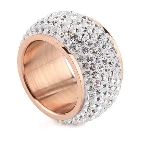 Rhinestone Ring Gold chagne gold plated fashion rhinestone rings for