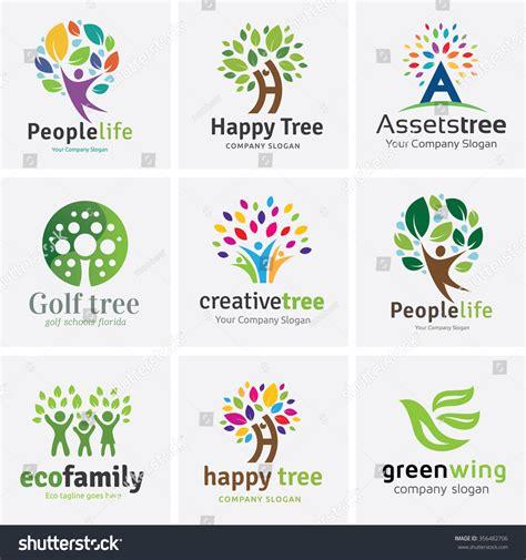 Tree Logo Setpeople Logo Setfamily Tree Logo Setpeople Logo Setfamily Logo Stock Vector 356482706 Shutterstock