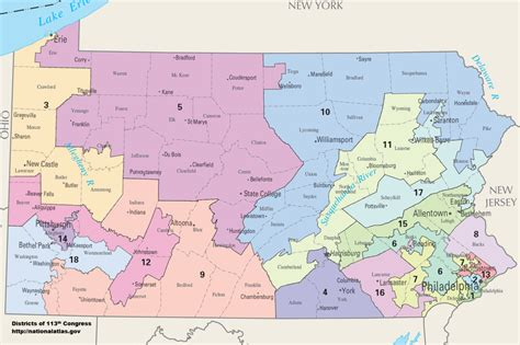 congressional districts map pennsylvania s congressional districts