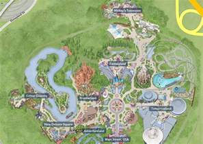 a map of walt disney s original plan for disneyland could