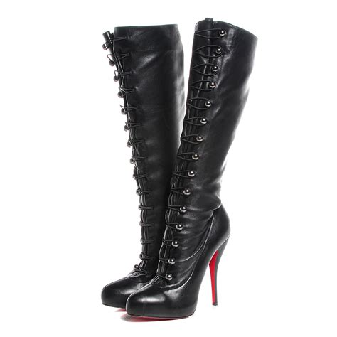 christian louboutin thigh high boots christian louboutin leather supra fifre 120 thigh high