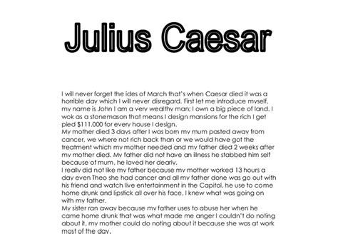 Julius Caesar Essays by Julius Caesar Gcse Marked By Teachers