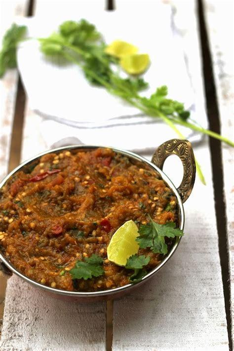 baigan bharta recipe how to make baigan bharta how to make baingan bharta without roasting