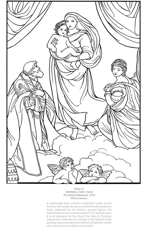 printable coloring pages renaissance welcome to dover publications dover masterworks color