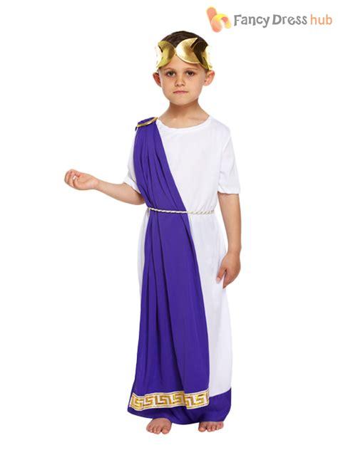 Premium Dress Bangkok Caesar Dress boys toga fancy dress costume goddess caesar book week ebay