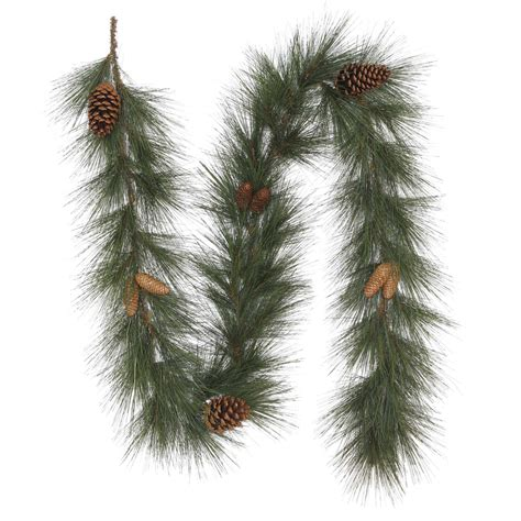 trim a home 174 8 richardson long needle garland with pine cones