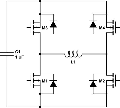 h bridge diode protection electromagnetism how to build an h bridge using mosfets electrical engineering stack exchange