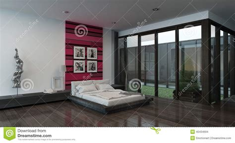 attraente Parete Colorata Camera Da Letto #1: interno-accogliente-della-camera-da-letto-con-la-parete-colorata-rosso-40434694.jpg
