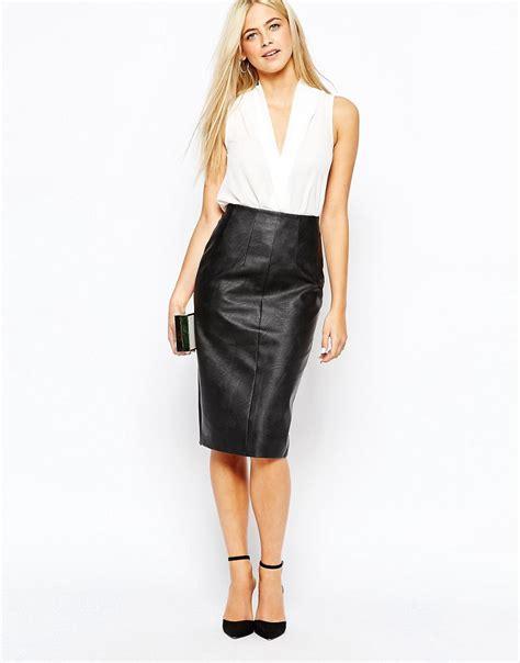 leather high waisted skirt albums