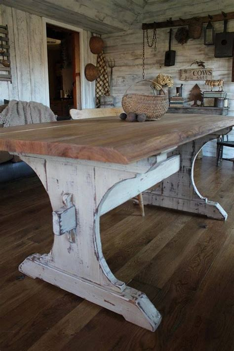 Farm Style Kitchen Table Oh I That Rustic Farmhouse Table I Want Me A Large Table Near The Kitchen So Family Can