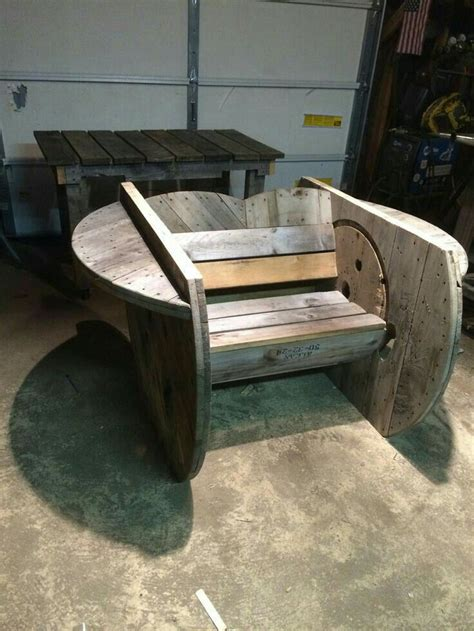 wire spool bench 114 best carretes reciclados images on pinterest