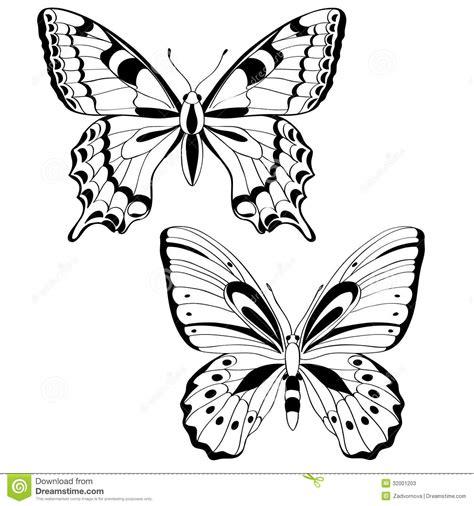 imagenes mariposas en blanco y negro mariposas del vector en blanco y negro fotos de archivo