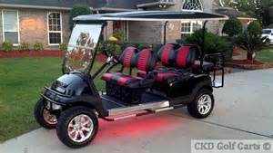 Custom Golf Cart Seat Upholstery Custom Stretch Six Passenger Limo Golf Carts For Sale