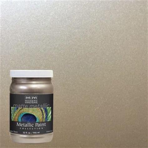 Metallic House Paint Interior by Modern Masters 1 Qt Warm Silver Matte Metallic Interior