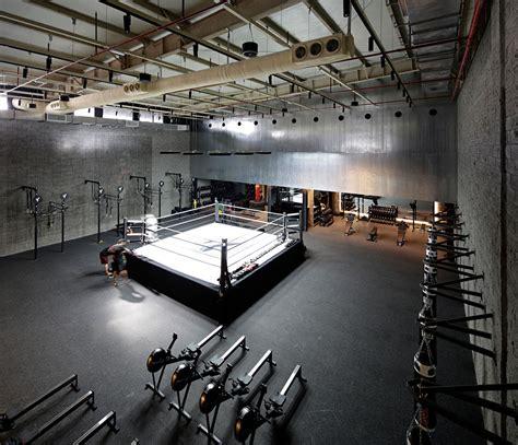 The Burrow Floor Plan by Lab100 Design Kuwait Boxing Studio Wallpaper