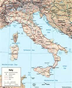 cartina rilievo italiano