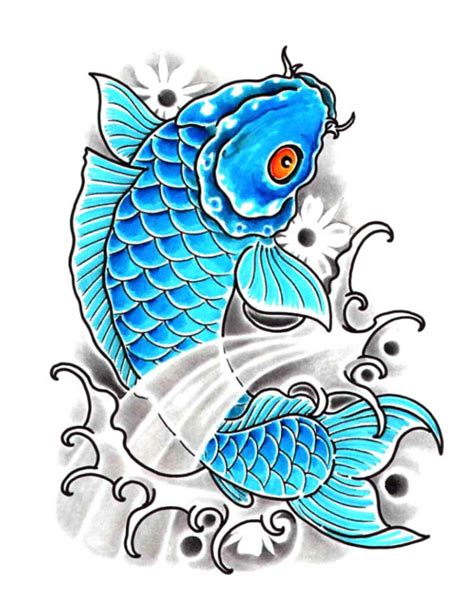 blue koi fish tattoo baby blue koi fish free design ideas