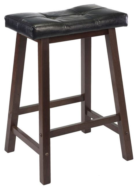Winsome Wood Saddle Seat Stool by Winsome Wood Mona 24 Inch Cushion Saddle Seat Stool W