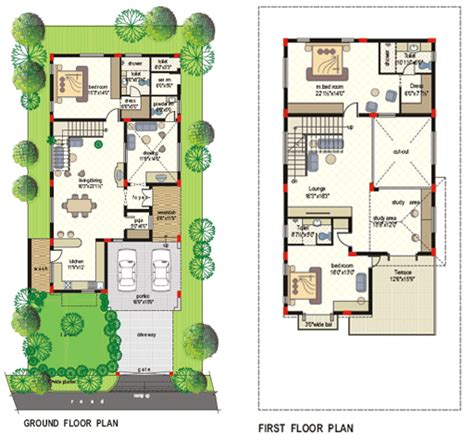 40x80 house plan typical floor plan