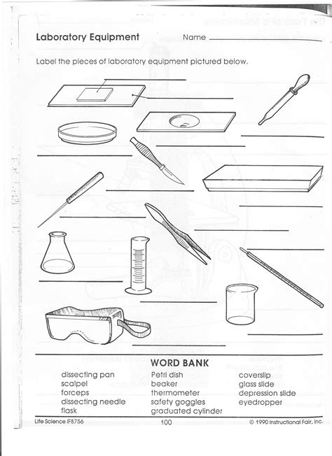 Science Lab Safety Worksheet by 12 Best Images Of Science Safety Worksheets Science Lab