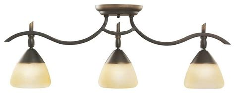 kichler olympia 3 light track lighting in olde bronze