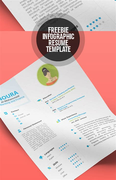 infographic resume template psd free 28 infographic resume templates free premium
