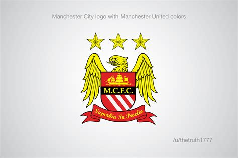 manchester united colors premier league club crests in the colour of a rival