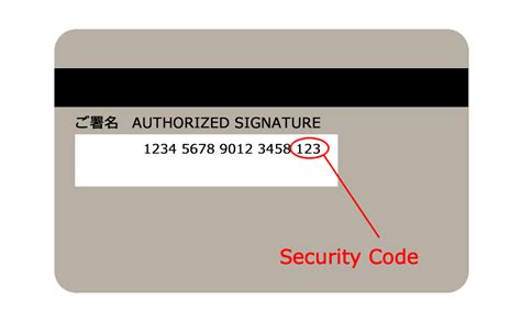 Sle Credit Card Security Code Credit Card Exle Security Code Infocard Co