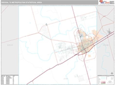 midland texas zip code map odessa midland metro area wall map premium style