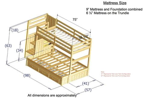 twin bunk bed dimensions bunk bed plans twin over full google search projects
