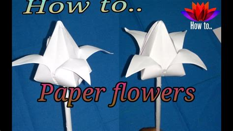 - how to make a paper flowers step by step easy and