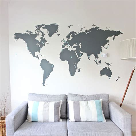 world map home decor world map vinyl wall sticker decall home decor by vinylimpression