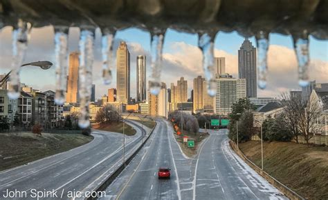 and atlanta photos snow make for wintry weekend in metro atlanta