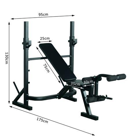 bancos pesas homcom 174 banco de pesas para entrenamiento y musculaci 243 n