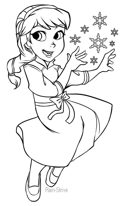 little elsa coloring page young elsa frozen drawing