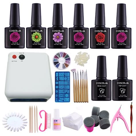 Manicure Kit kit nail gel manicure set 36w uv l 220v dryer nail
