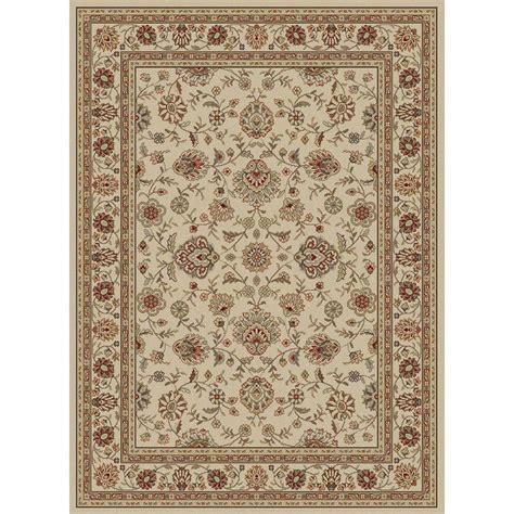traditional area rug tayse rugs elegance ivory 5 ft x 7 ft traditional area rug 5142 ivory 5x7 the home depot