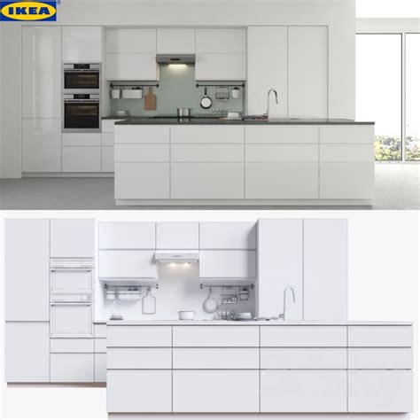New Ideas For Kitchen Cabinets 3d models kitchen ikea voxtorp