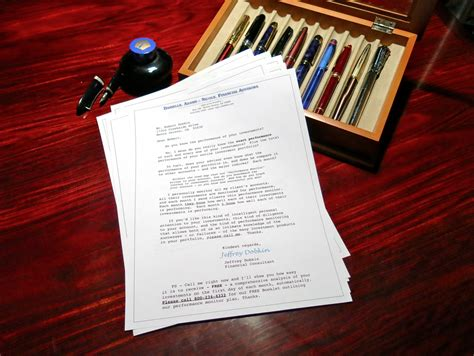 financial sales letters jeffrey dobkin