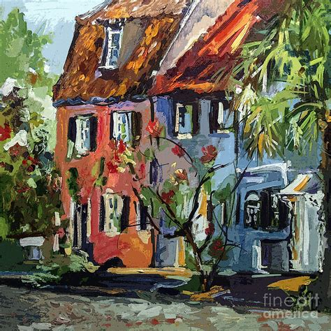 house painters charleston sc pink house on chalmers street charleston south carolina painting by ginette callaway