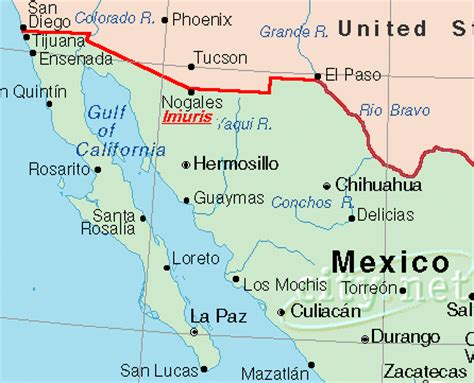 california map mexico map of california and mexico border california map