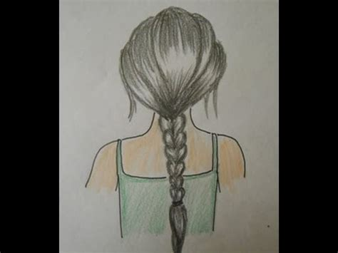 easy way to draw hairstyles how to draw hair braids easy drawing step by step for