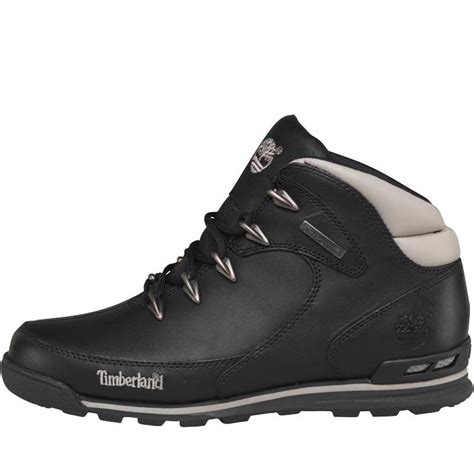 buy timberland mens rock hiker leather boots black